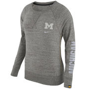 Nike University of Michigan Women's Dark Heather Gray Vintage Gym Crewneck Sweatshirt
