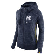 Nike University of Michigan Women's Heather Navy Full Zip Hooded Sweatshirt