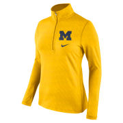 Nike University of Michigan Women's Yellow Tailgate Element ''Ignite'' 1/2 Zip Pullover