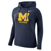 Nike University of Michigan Women's Navy Stadium Club Hooded Sweatshirt