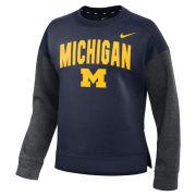 Nike University of Michigan Women's Navy/ Gray Dolman Crewneck Sweatshirt
