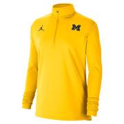 Jordan University of Michigan Football Women's Maize Coaches Sideline Dri-FIT 1/2 Zip Pullover