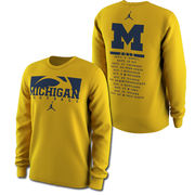 Jordan University of Michigan Football Long Sleeve 2016 Season Tee
