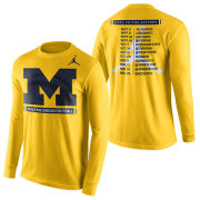 Jordan University of Michigan Football 2017 Long Sleeve Season Tee