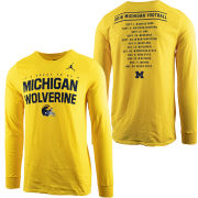 Jordan University of Michigan Football 2018 Long Sleeve Season Tee