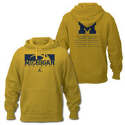 Jordan University of Michigan Football 2016 Season Hooded Sweatshirt