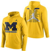 Jordan University of Michigan Football 2017 Therma-FIT Season Hooded Sweatshirt