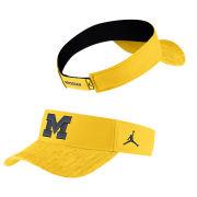 Jordan University of Michigan Football Maize Sideline Dri-FIT Visor