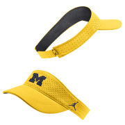 Jordan University of Michigan Football Maize Aerobill Sideline Visor