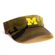 Nike University of Michigan Washed Camo Visor