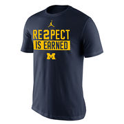 Jordan University of Michigan Navy Re2pect Is Earned Tee