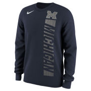 Nike University of Michigan Navy Momentum Pack Long Sleeve Tee