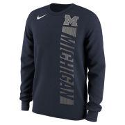 Nike University of Michigan Navy Momentum Pack Long Sleeve Tee