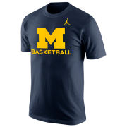 Jordan University of Michigan Basketball Navy Logo Tee