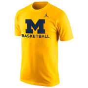 Jordan University of Michigan Basketball Yellow Logo Tee