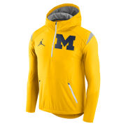 Jordan University of Michigan Football Maize Fly Rush Lightweight 1/4 Zip Pullover Jacket