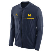 Jordan University of Michigan Football Navy Coaches Elite Hybrid Mid-Weight Full Zip Jacket