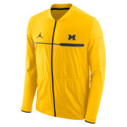 Jordan University of Michigan Football Yellow Coaches Elite Hybrid Mid-Weight Full Zip Jacket