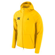 Jordan University of Michigan Maize Shield Midweight Full Zip Hooded Jacket