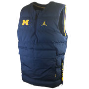 Jordan University of Michigan Football Navy Protect Shield 1/4 Zip Pullover Vest