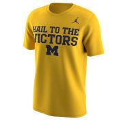 Jordan University of Michigan Football Yellow ''Hail to the Victors'' Mantra Tee
