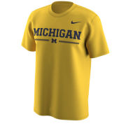 Nike University of Michigan Yellow Week Zero Trainer Hook Dri-FIT Legend Tee