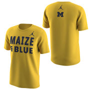 Jordan University of Michigan Football Maize & Blue Tee