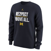 Jordan University of Michigan Football ''RE2PECT ABOVE ALL'' Long Sleeve Tee