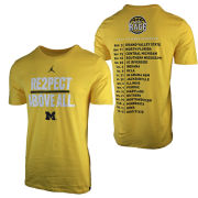 Jordan University of Michigan Basketball 2017-2018 Maize Rage Tee