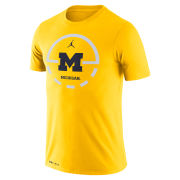 Jordan University of Michigan Basketball Maize Dri-FIT Legend Key 2.0 Tee