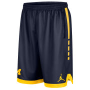 Jordan University of Michigan Navy Dri-FIT Elite Shorts