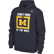 Jordan University of Michigan Football Navy Local Hooded Sweatshirt