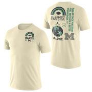 Jordan University of Michigan Football Ivory White Sustainability Tee