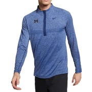 Nike Golf University of Michigan Blue Void Dri-FIT 1/2 Zip Golf Pullover