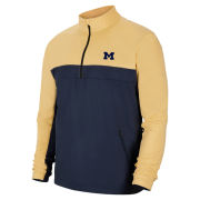 Nike Golf University of Michigan Navy/Gold Shield Victory 1/2 Zip Pullover Windshirt