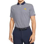 Nike Golf University of Michigan Navy/White Stripe Dri-FIT Victory Polo