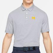 Nike Golf University of Michigan Navy/White Player Control Stripe Dri-FIT Polo
