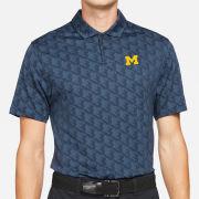 Nike Golf University of Michigan Navy Houndstooth Vapor Dri-FIT Polo