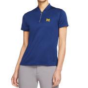 Nike Golf University of Michigan Women's Blue Dri-FIT Blade Collar Polo