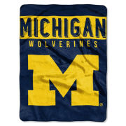 Northwest University of Michigan ''Rebel'' Rashell Throw Blanket