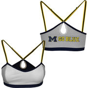 NuYu University of Michigan Ladies White Nukini with Keyhole