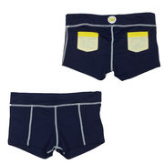NuYu University of Michigan Ladies Navy Patch Pocket Shorts