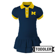 Outerstuff University of Michigan Toddler Girls Polo Dress