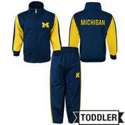 Outerstuff University of Michigan Toddler Full Zip Jacket/ Pant Set