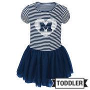 Outerstuff University of Michigan Toddler Girls Navy Celebration Tutu Dress