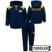 Outerstuff University of Michigan Toddler Play Action Full Zip Hooded Jacket and Pant Set