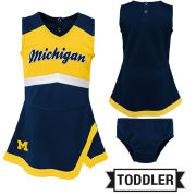 Outerstuff University of Michigan Toddler Two-Piece Cheer Jumper Dress