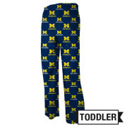 Genuine Stuff University of Michigan Toddler Navy All Over Print Sleep Pant