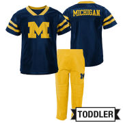 OuterStuff University of Michigan Football Toddler Cotton Jersey Tee and Pant Set
