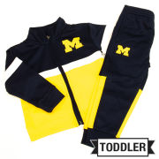 Outerstuff University of Michigan Toddler Half Back Track Jacket and Pant Combo Set